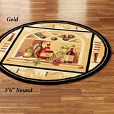 Wine Bottle Round Rug