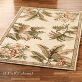 Tropical Retreat Area Rug Ivory