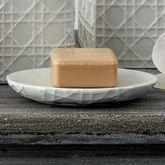 Rattan Soap Dish Ivory