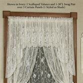 Enchanting Roses Lace Swag Valance Pair 56 x 38