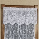 Enchanting Roses Lace Scalloped Valance 56 x 18