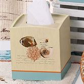 Seaside Vintage Tissue Cover Cream