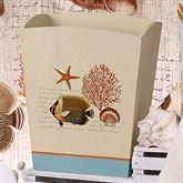 Seaside Vintage Wastebasket Cream