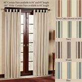 Weathermate Stripe Tab Curtain Pair