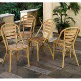 Mandalay Bamboo 4 Chairs Set Bamboo Set of Four