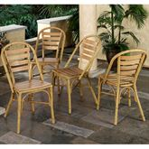 Mandalay Bamboo 4 Chairs Set Bamboo Set of Four