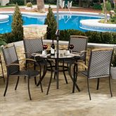 Estes Patio Table with 4 Chairs Charcoal Set of Five