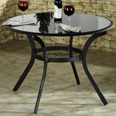 Estes Round Patio Table Only Charcoal 42