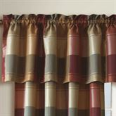 Plaid Tailored Valance 54 x 18