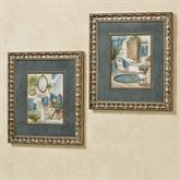 Victorian Bath Framed Wall Art Multi Cool Set of Two