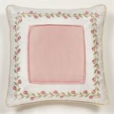 Blush Rose Embroidered European Sham