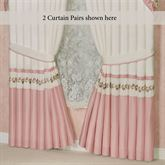 Blush Rose Tailored Curtain Pair 96 x 84