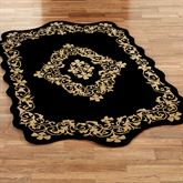 Imperial Wool Rectangle Rug Black