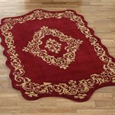 Palatial Wool Rectangle Rug Ruby