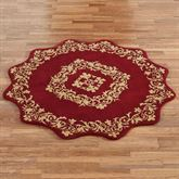 Palatial Wool Round Rug Ruby 5 Round
