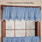 Provence Gingham Scalloped Valance 60 x 12