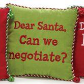 Santa Can We Negotiate Pillow Multi Warm 12 Square