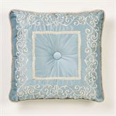 Regency Embroidered Pillow Parisian Blue 20 Square