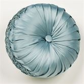 Regency Tufted Pillow Parisian Blue Round