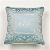 Regency Corded Embroidered Pillow Parisian Blue 20 Square