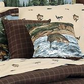 River Fishing Tailored Square Pillow Chocolate 18 Square