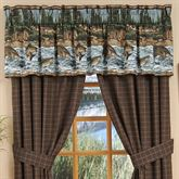 River Fishing Tailored Valance Chocolate 88 x 15