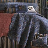 Wakefield Gathered Bedskirt Dark Blue