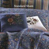Wakefield Quilted Sham Dark Blue Standard