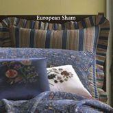 Wakefield Ruffled European Sham Dark Blue