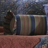 Wakefield Ruffled Neckroll Pillow Dark Blue