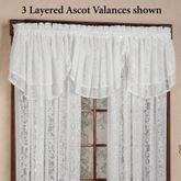 Mia Lace Ascot Valance 55 x 20