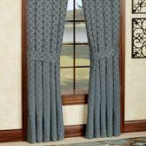 Chantal Tailored Curtain Pair Steel Blue 82 x 84