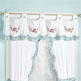 Rose Garden Wide Swag Valance White 74 x 20