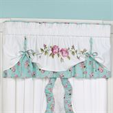 Rose Garden Layered Valance White 60 x 18