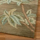 Palm Trees Runner Rug Moss 26 x 10