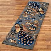 Majestic Peacock Rug Runner Slate Gray 26 x 8