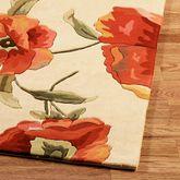 Poppies Rug Runner Ivory Orange 26 x 8