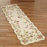 Floral Jubilee Rug Runner Light Cream 23 x 8
