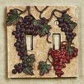 Vintage Harvest Grapes Double Switch Multi Earth