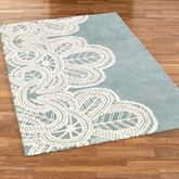 Antique Lace Rectangle Rug Parisian Blue