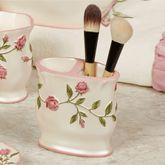 Bridal Rose Brush Holder Blush