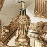 Flowering Medallion Lotion Soap Dispenser Aged Gold