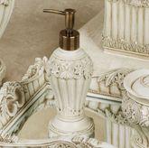 Flowering Medallion Lotion Soap Dispenser Antique Ivory