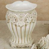 Flowering Medallion Wastebasket Antique Ivory