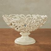 Openwork Decorative Centerpiece Bowl Only Ivory/Gold
