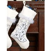 White Velvet Tree Stocking