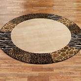 Safari Collage Round Rug Beige/Brown 78 Round