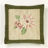Tropical Haven Embroidered Pillow Multi Warm 18 Square
