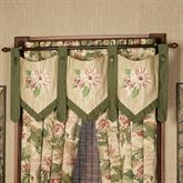 Tropical Haven Embroidered Valance Multi Warm 54 x 22