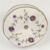 Blossom Gusseted Tufted Pillow Lavender Round